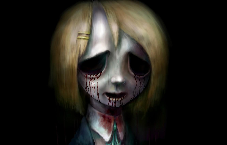 Photo wallpaper zombies, evil, horror, undead, bloody tears, in the dark, nightmare, Yui Hirasawa, K-ON!, light music, …
