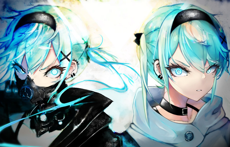 Wallpaper Mask Hatsune Miku Vocaloid Vocaloid Hatsune Miku
