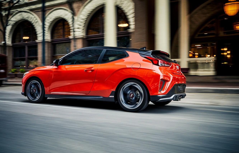 Photo wallpaper speed, Hyundai, hatchback, Turbo, 2018, Veloster