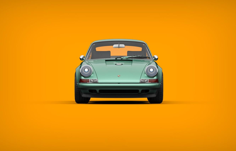 Photo wallpaper Auto, Minimalism, 911, Porsche, Machine, Style, Car, Sports car, Singer, Transport & Vehicles, Porsche 911 …