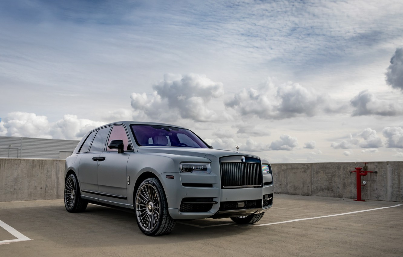 Photo wallpaper Rolls Royce, Sky, SUV, Luxury, Vossen, Graphite, Cullinan