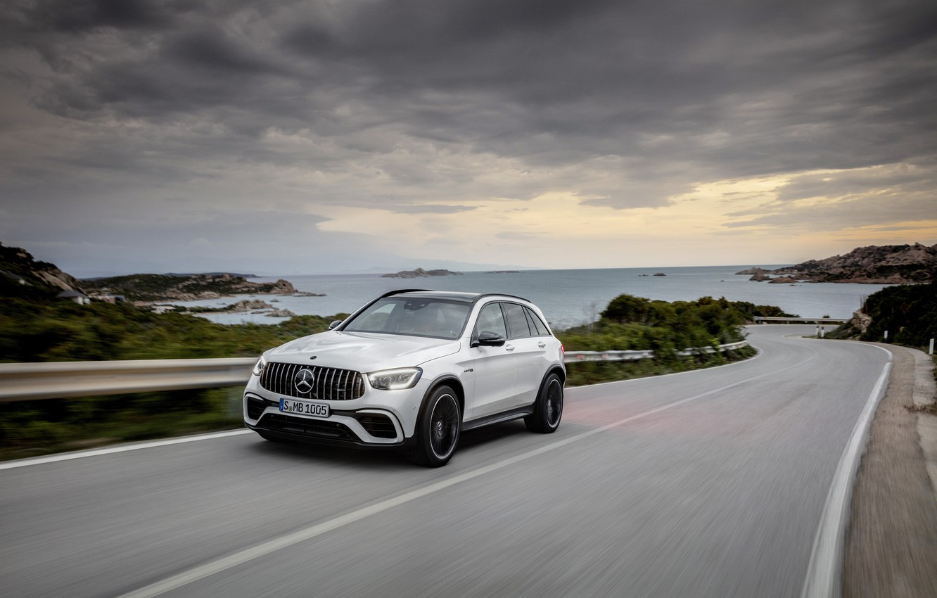 Photo wallpaper Mercedes-Benz, track, crossover, GLC, Mercedes-AMG, 4Matic+, GLC 63S