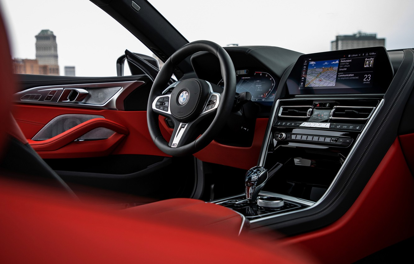 Photo wallpaper black, coupe, interior, BMW, Gran Coupe, 2020, 8-Series, 2019, the four-door coupe, M850i xDrive, Eight, …