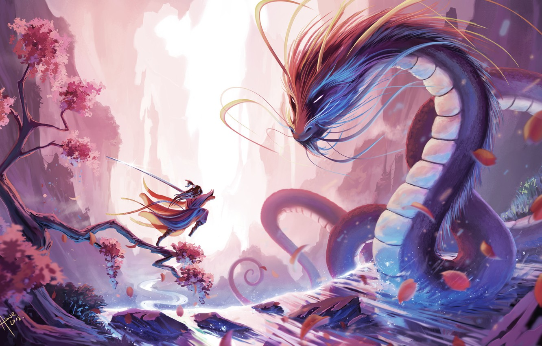Dragon, Warrior, China, Asia