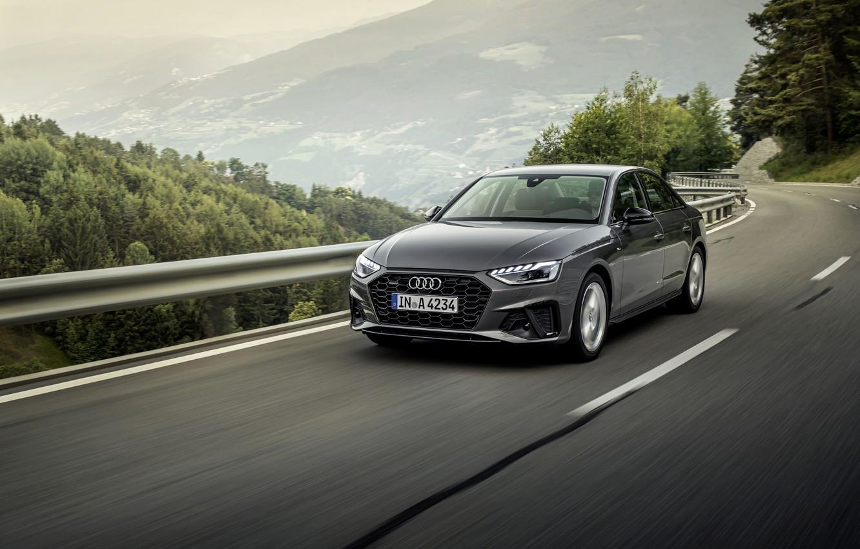 Photo wallpaper Audi, the fence, sedan, Audi A4, 2019