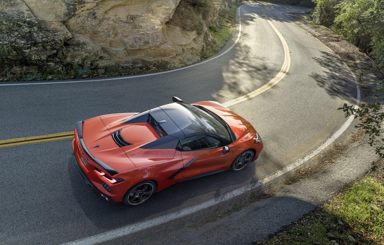 Photo wallpaper Corvette, Chevrolet, Stingray, 2020, C8