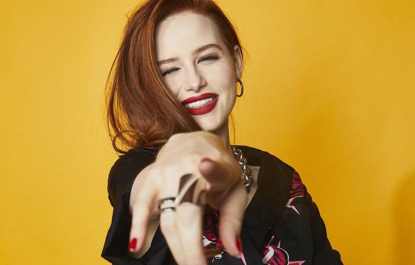 Photo wallpaper smile, actress, red, redhead, Madelaine Petsch