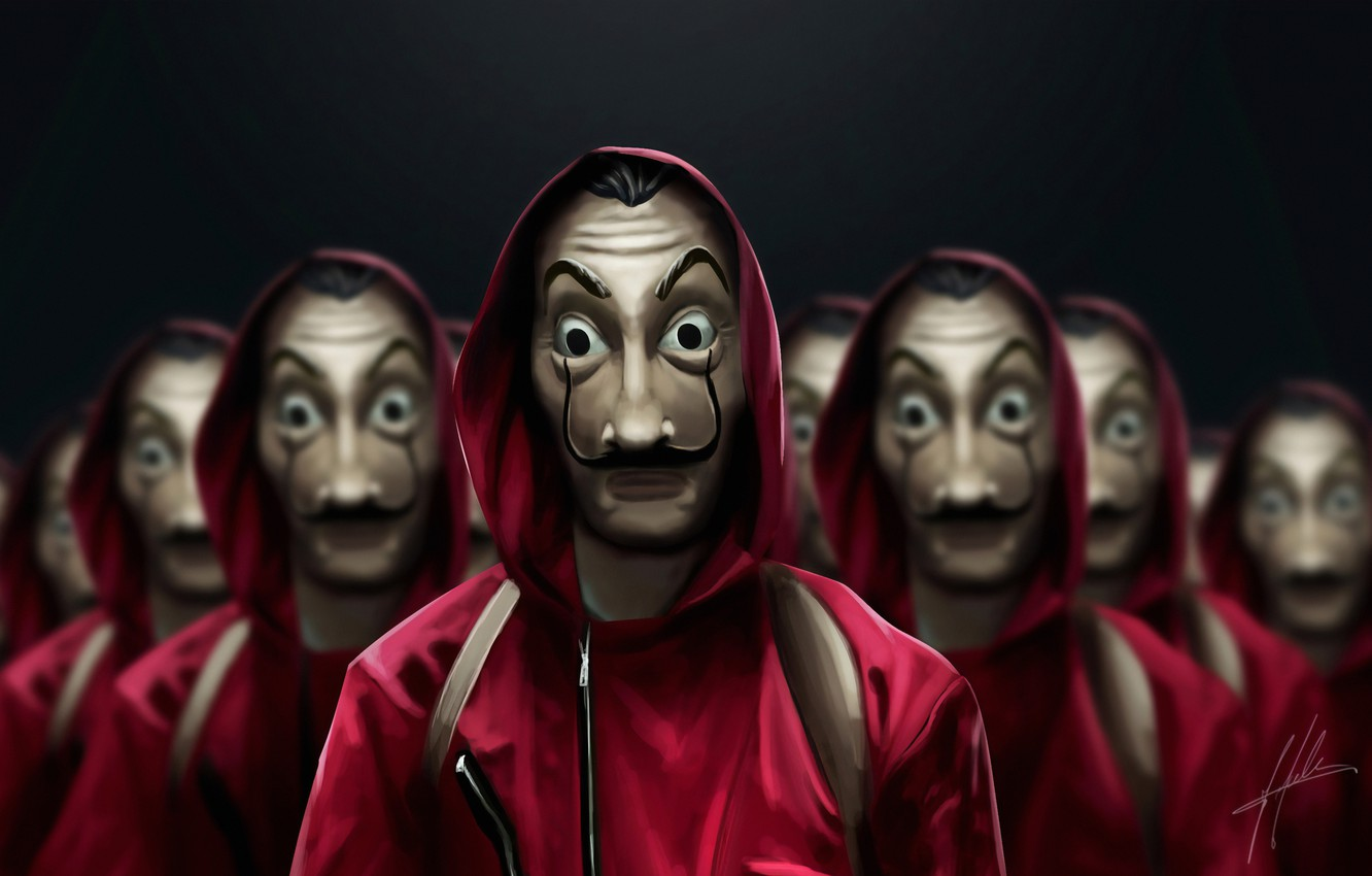 Photo wallpaper people, mask, the series, mask, TV series, The House of Paper, Paper house, Money Heist