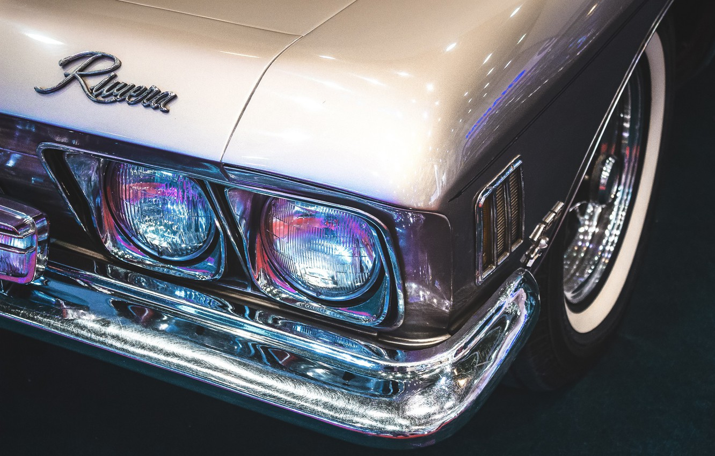 Photo wallpaper headlight, wheel, the hood, bumper