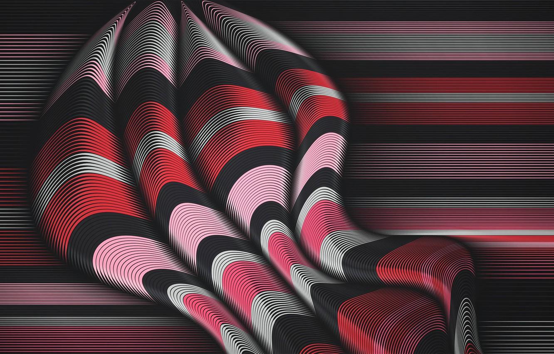 Photo wallpaper wave, line, strip, the volume