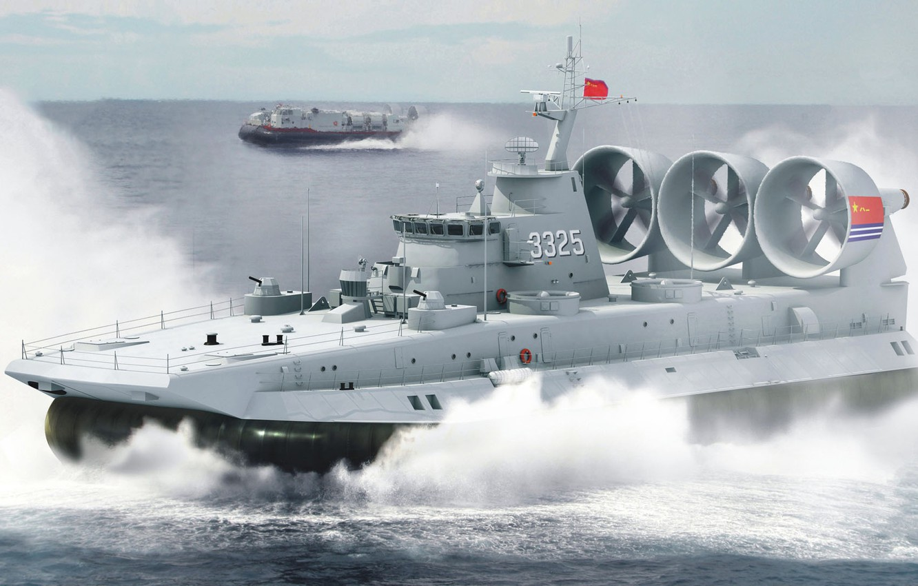 Photo wallpaper China, Bison, military ship, The naval forces of the people's Republic of China, small landing …