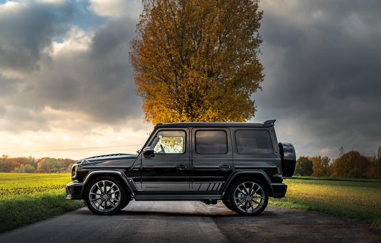 Photo wallpaper Mercedes-Benz, side view, AMG, Inferno, G-Class, Gelandewagen, G63, Manhart, 2019, G 700