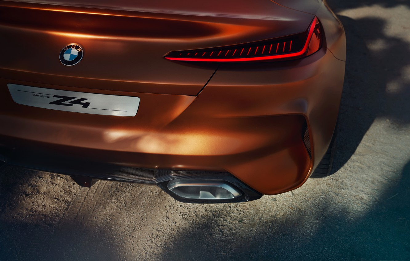 Photo wallpaper BMW, Roadster, feed, 2017, Z4 Concept