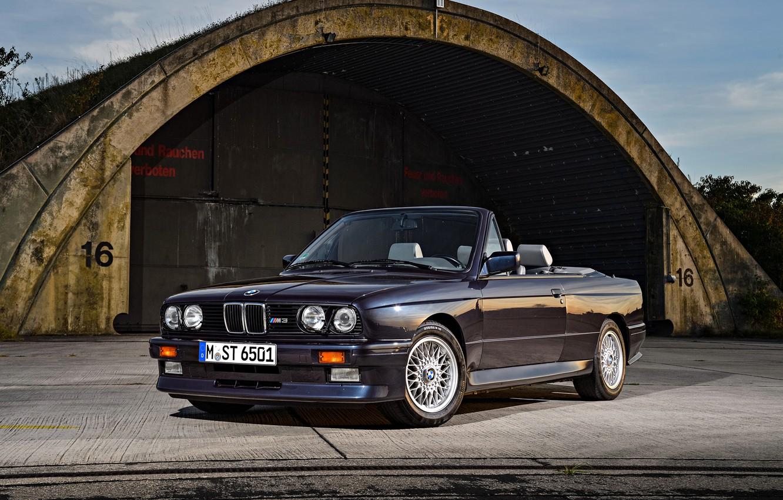 Photo wallpaper BMW, E30, M3, CABRIO