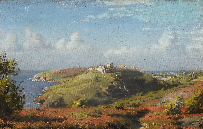 Photo wallpaper Danish painter, 1882, Peter Merk Of Menstad, Peder Mørk Mønsted, Summer landscape, Danish realist painter, …