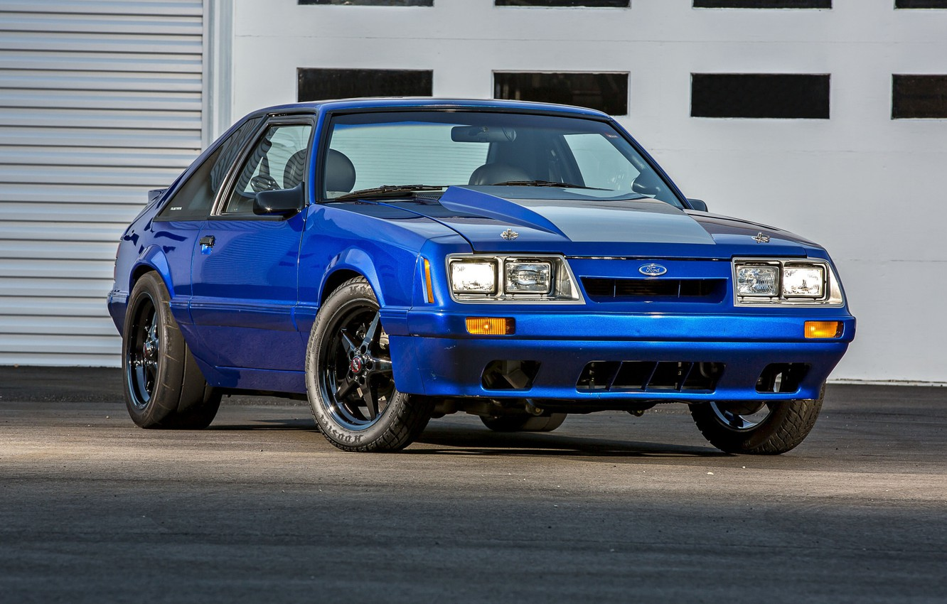 Photo wallpaper Mustang, Ford, Car, Blue