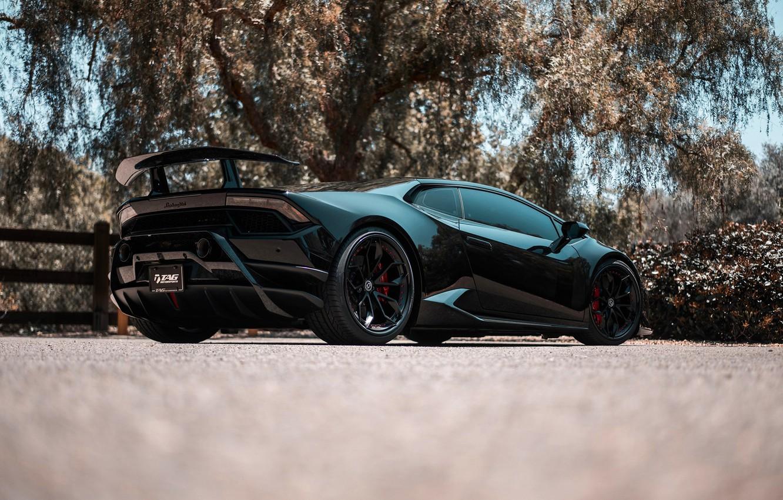 Photo wallpaper Lamborghini, black, tuning, Huracan