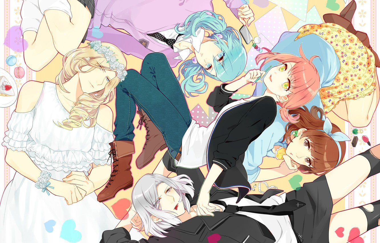Photo wallpaper girl, art, guys, Uta no prince-sama