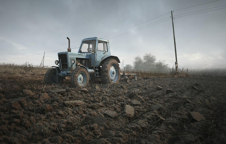 Photo wallpaper tractor, Belarus, Belarus