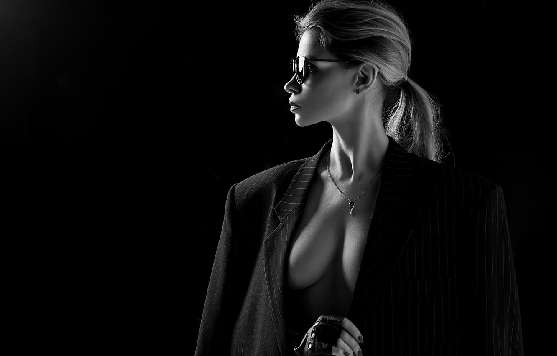 Photo wallpaper white, black, glasses, A Diakov George