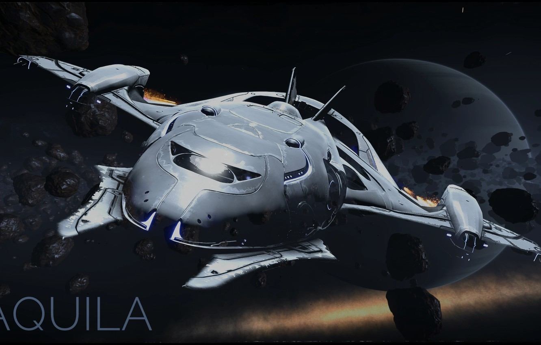 Photo wallpaper Future, Spaceship, Aquila