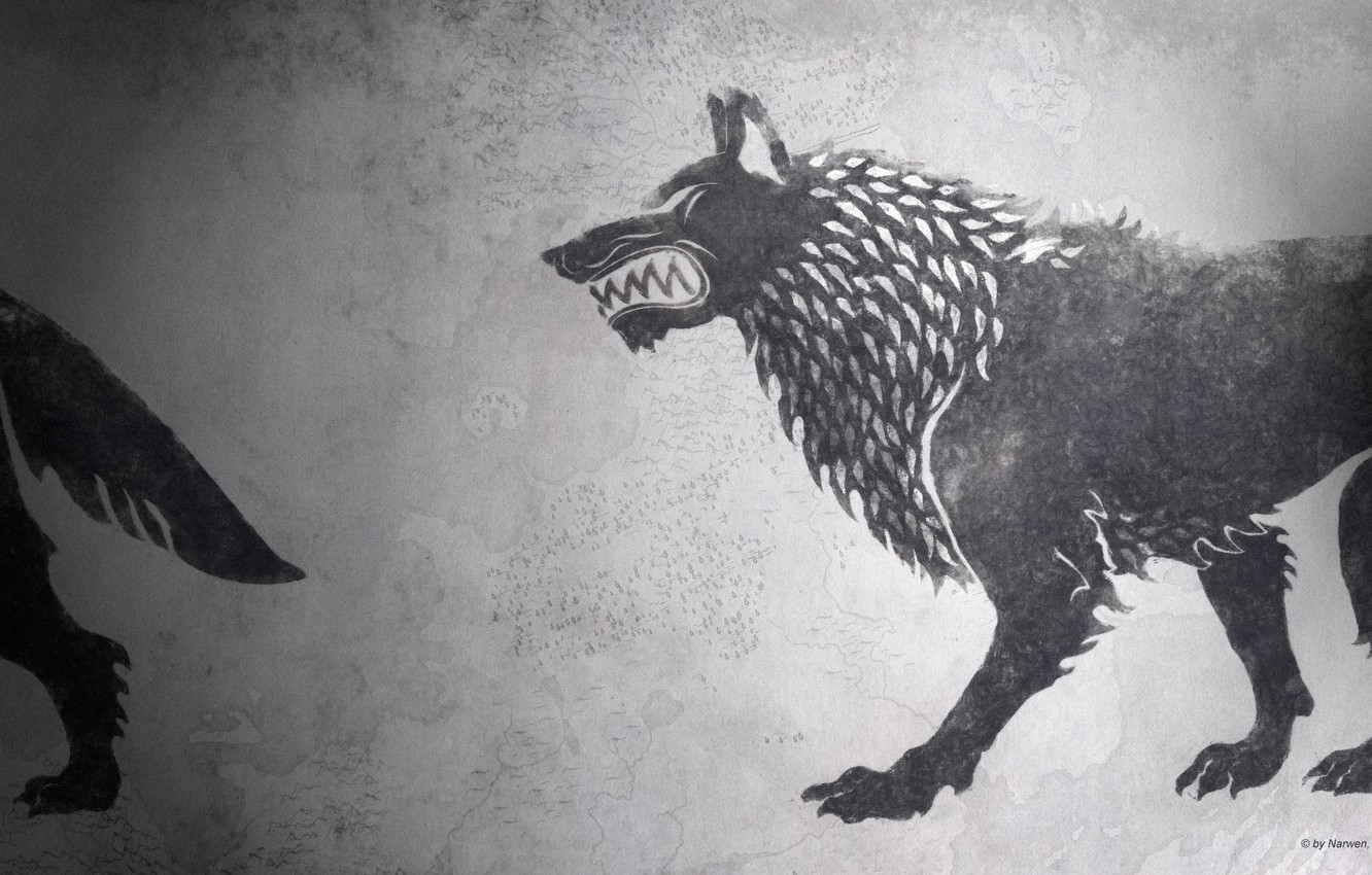 Photo wallpaper game of thrones, a song of ice and fire, fan art, House Stark, HBO, darewolf