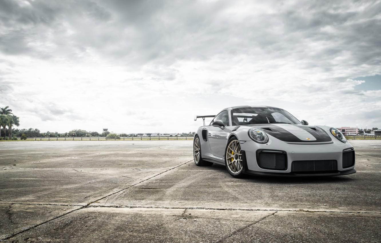 Photo wallpaper Porsche, GT2, Silver, VAG, Sight