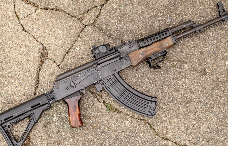 Photo wallpaper weapons, tuning, machine, weapon, custom, custom, Kalashnikov, AKM, Russian, AKM, assault rifle, assault Rifle, AK, …