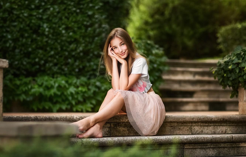 Photo wallpaper girl, pose, Kate, Anastasia Barmina
