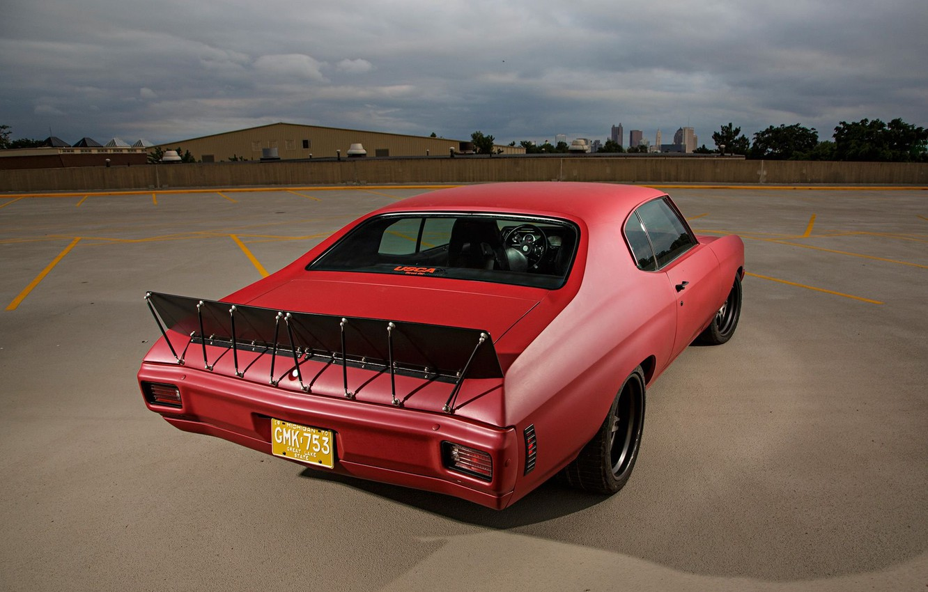 Photo wallpaper Chevy, Chevelle, Custom, Vehicle, Modified, Chevelle SS