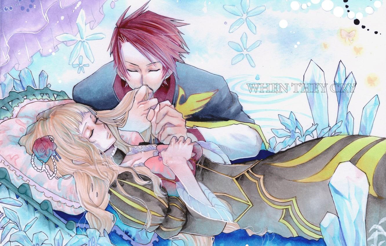 Photo wallpaper romance, anime, art, two, Umineko no Naku Koro ni, When the seagulls cry