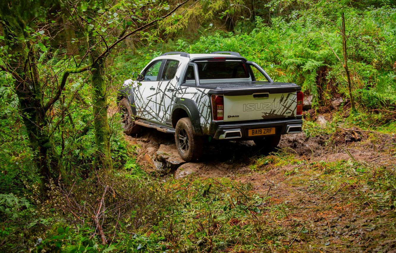 Photo wallpaper forest, the roads, pickup, Isuzu, D-Max, 2019, UK version, XTR
