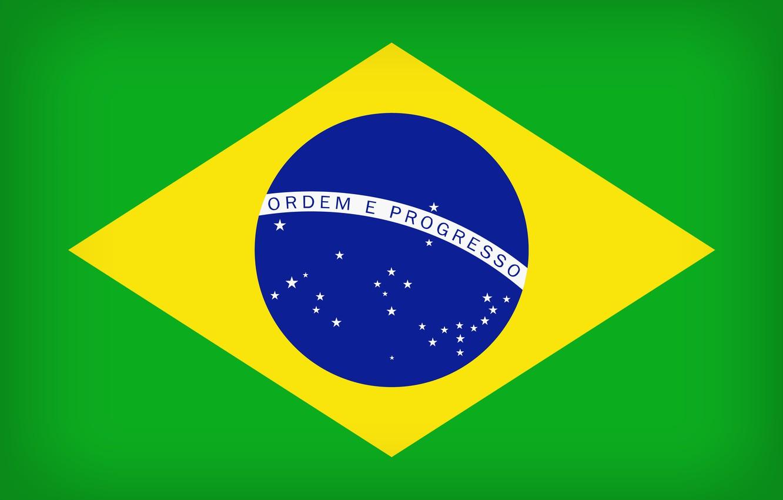 Photo wallpaper Brazil, Flag, Brasil, Flag Of Brazil, Brazilian Flag