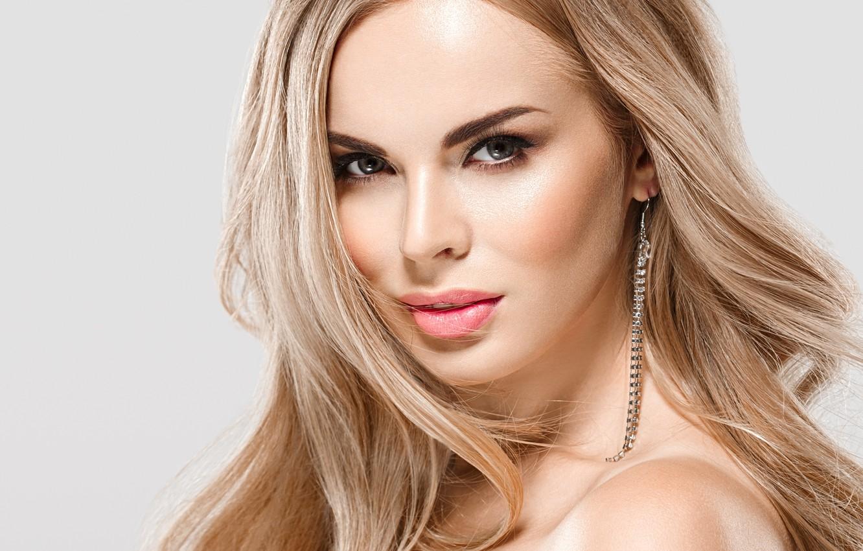 Photo wallpaper look, makeup, blonde, woman, beautiful, blonde