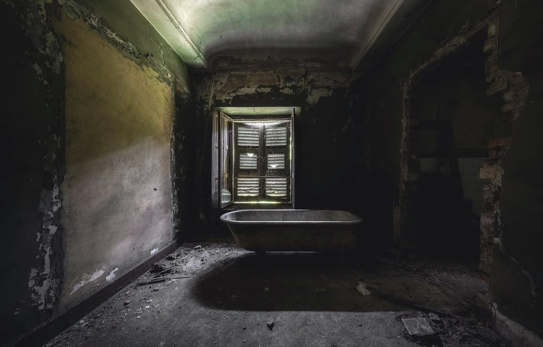 Photo wallpaper room, window, bath, naturalism