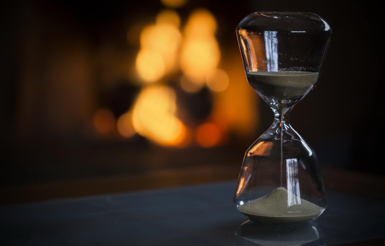 Photo wallpaper time, life, hourglass