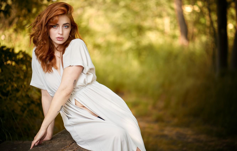 Photo wallpaper girl, face, Martin Fuhrmann