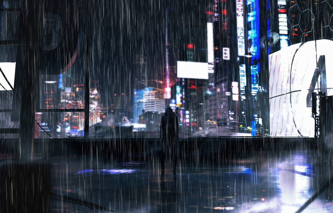 Wallpaper People Neon Neon City Night Signs The Shower