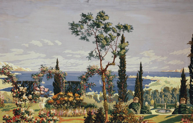 Photo wallpaper 1926, Charles Ephraim Burchfield, right panel, The Riviera