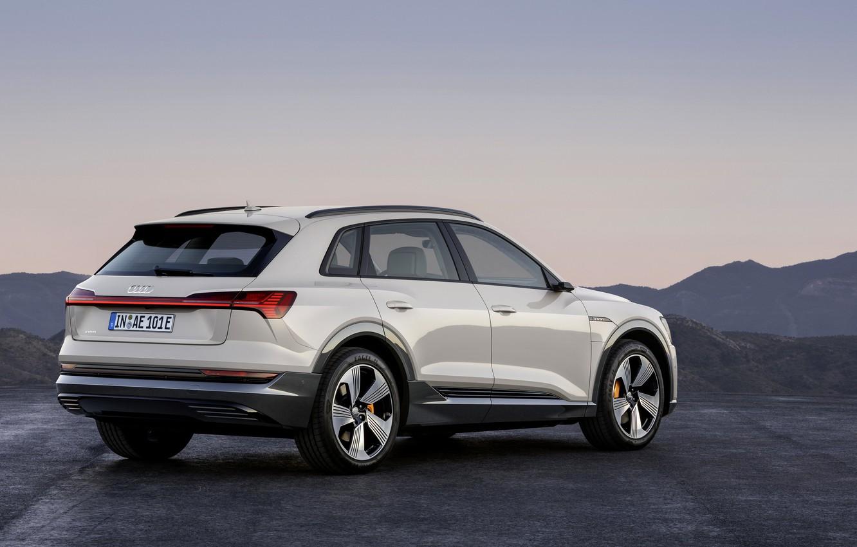 Photo wallpaper grey, Audi, side view, E-Tron, 2019