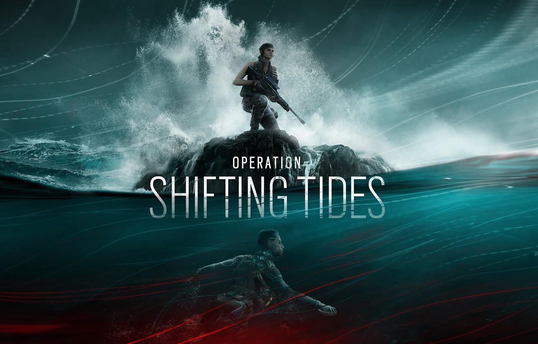 Photo wallpaper wave, water, sniper, Ubisoft, special forces, sniper rifle, mercenaries, Tom Clancy's Rainbow Six Siege, Rainbow …