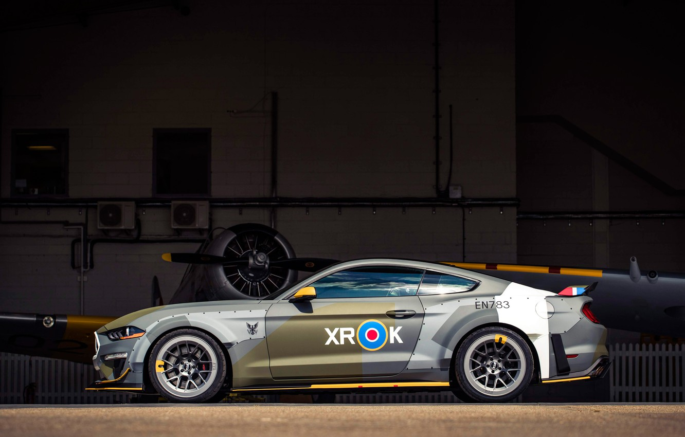 Photo wallpaper Ford, side view, RTR, 2018, Mustang GT, Eagle Squadron