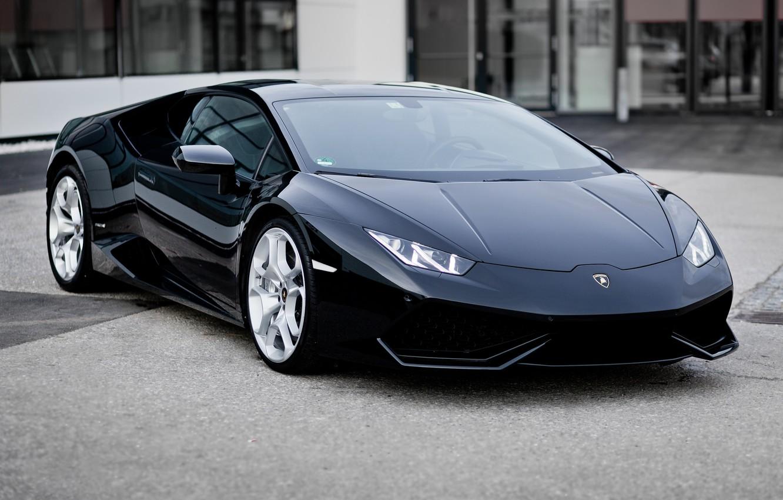Photo wallpaper machine, auto, black, Car, Lamborghini, Lamborghini Hurricane, background street, Lamborghini Huracán LP 610, Lamborghini Lp …
