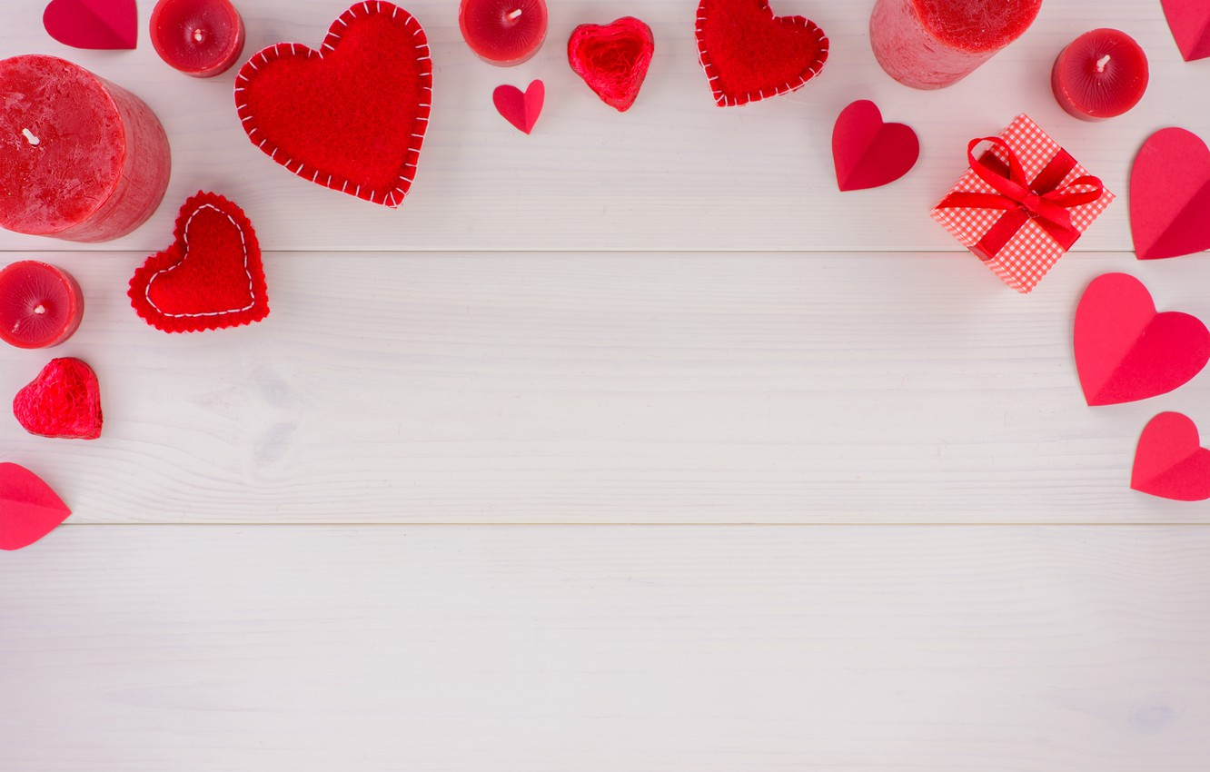 Photo wallpaper love, heart, gifts, hearts, red, red, love, romantic, hearts, valentine's day, gift box