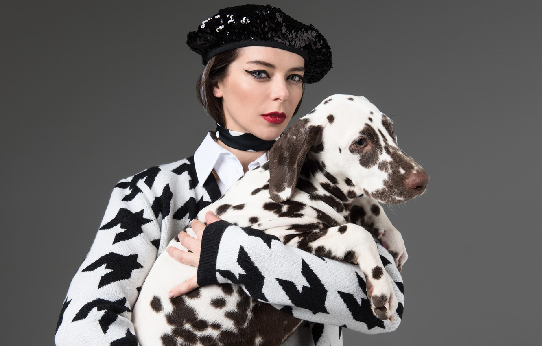 Wallpaper Pose Dog Makeup Dalmatians Photoshoot Takes Marina Aleksandrova Cruela De Vil 101 Dalmatians Images For Desktop Section Devushki Download