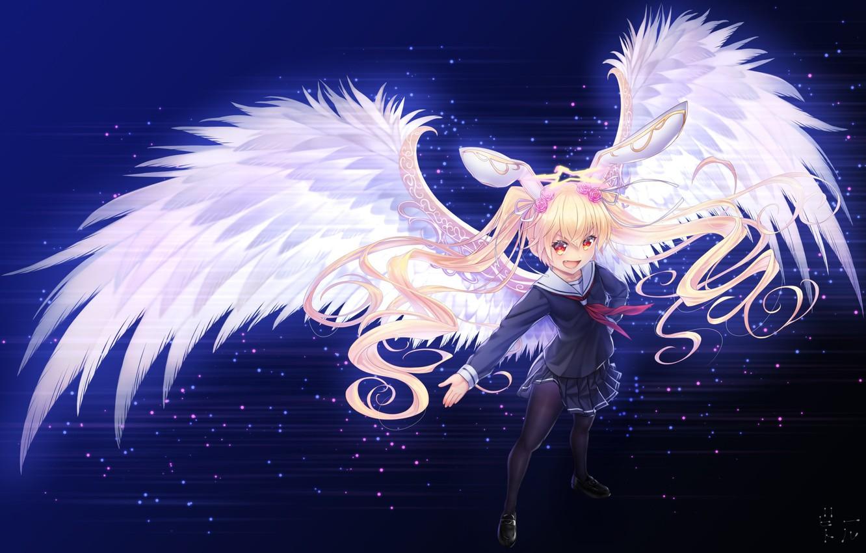 Photo wallpaper Angel, Girl, Wings, sennen sensou aigis