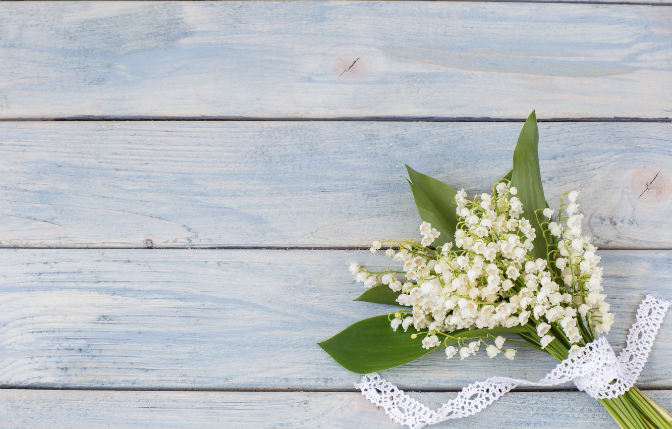 Wallpaper Flowers Bouquet Spring White Lilies Of The Valley