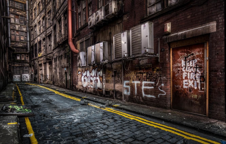 Photo wallpaper the city, street, Glasgow