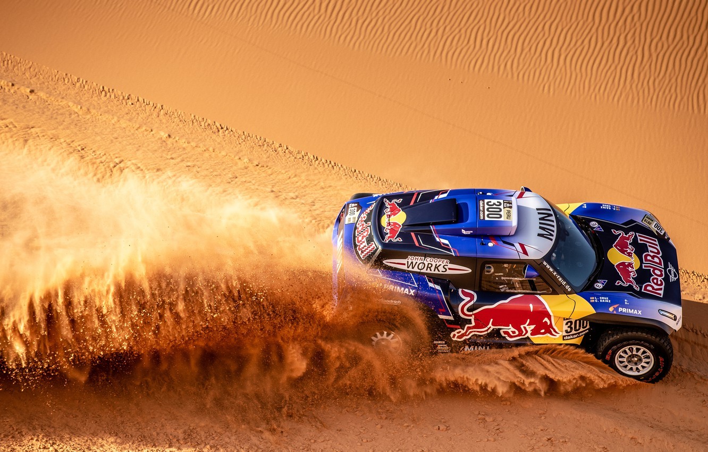 Photo wallpaper Sand, Mini, Sport, Desert, Machine, Car, 300, Rally, Dakar, Dakar, Rally, Dune, Buggy, Buggy, X-Raid …