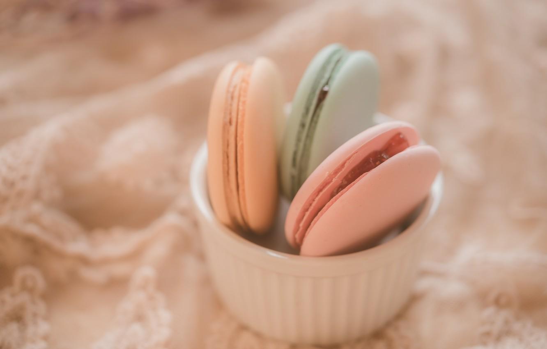 Photo wallpaper colorful, dessert, pink, cakes, sweet, sweet, dessert, bright, macaroon, french, macaron, macaroon